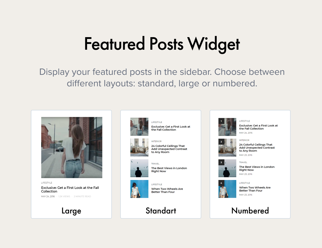 Featured Posts Widget