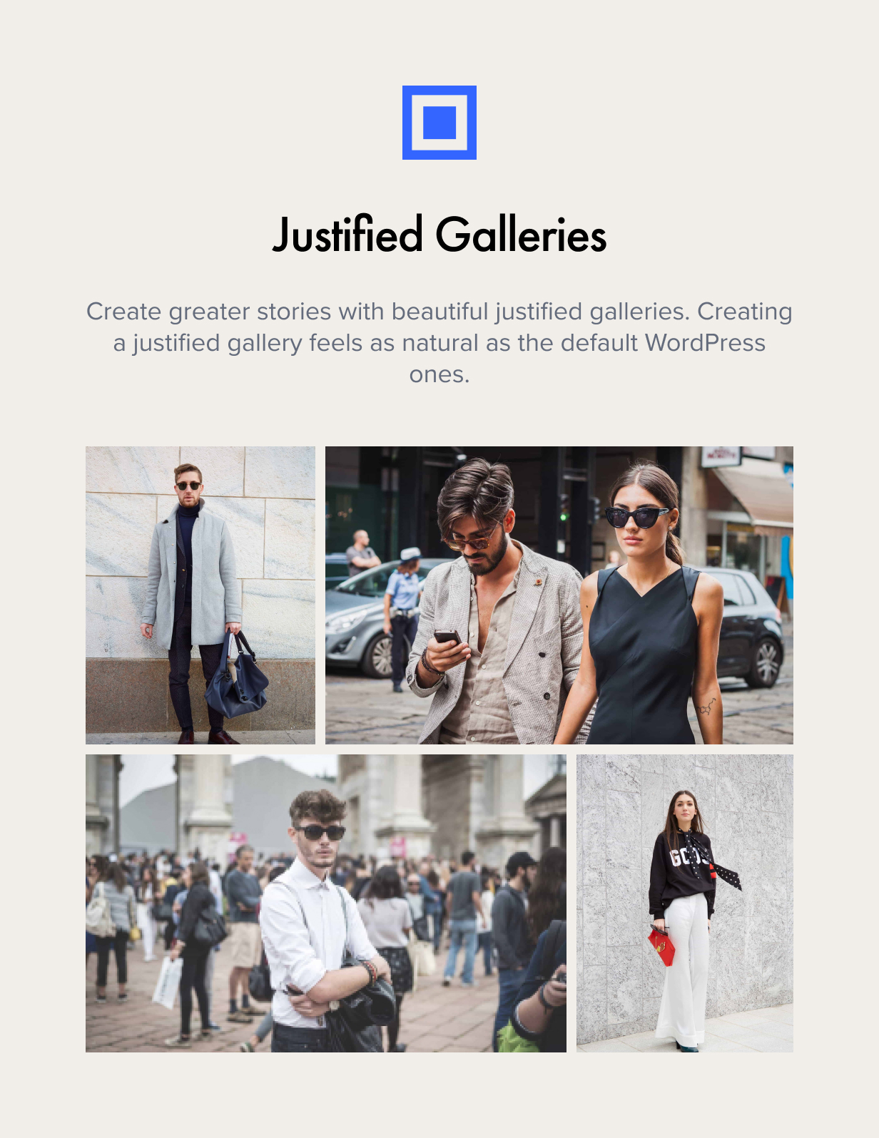 Justified Galleries