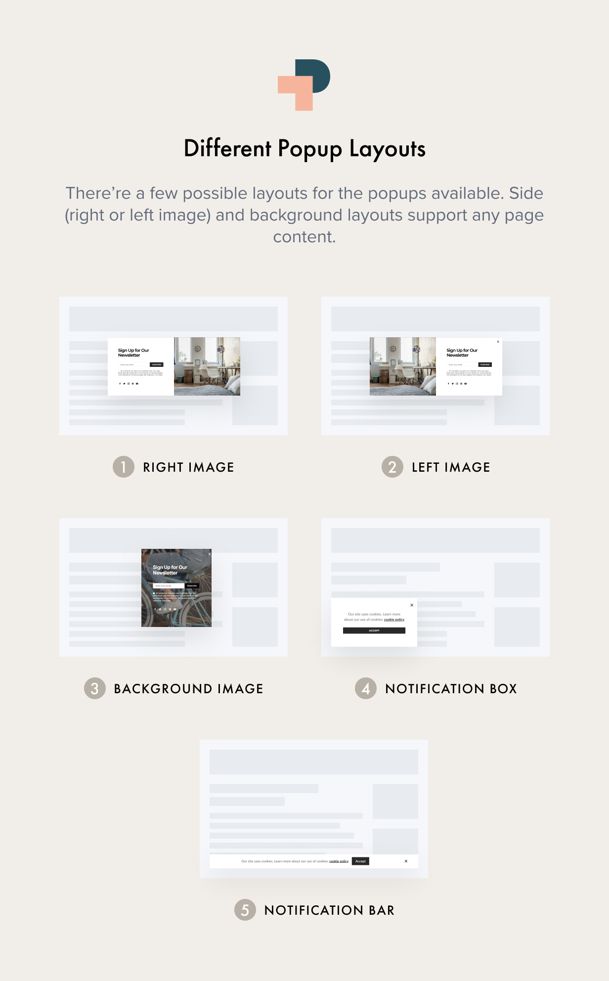 Popups Layouts