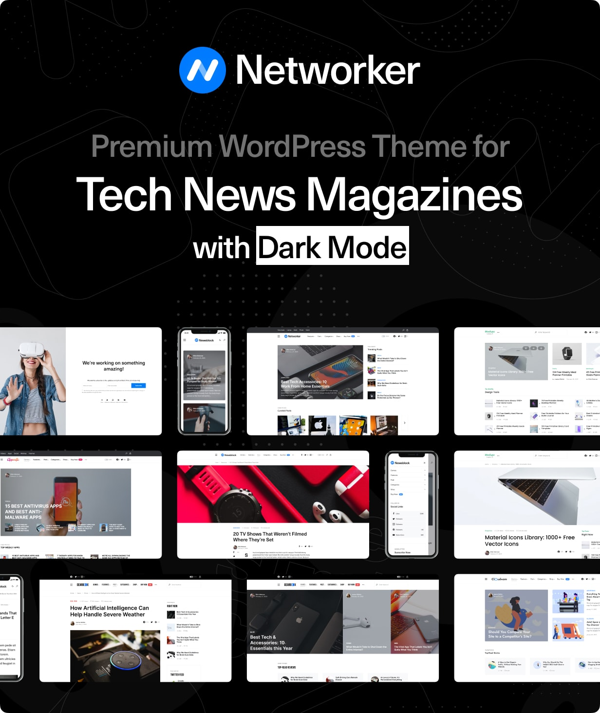 Networker - Tech News WordPress Theme with Dark Mode - 1