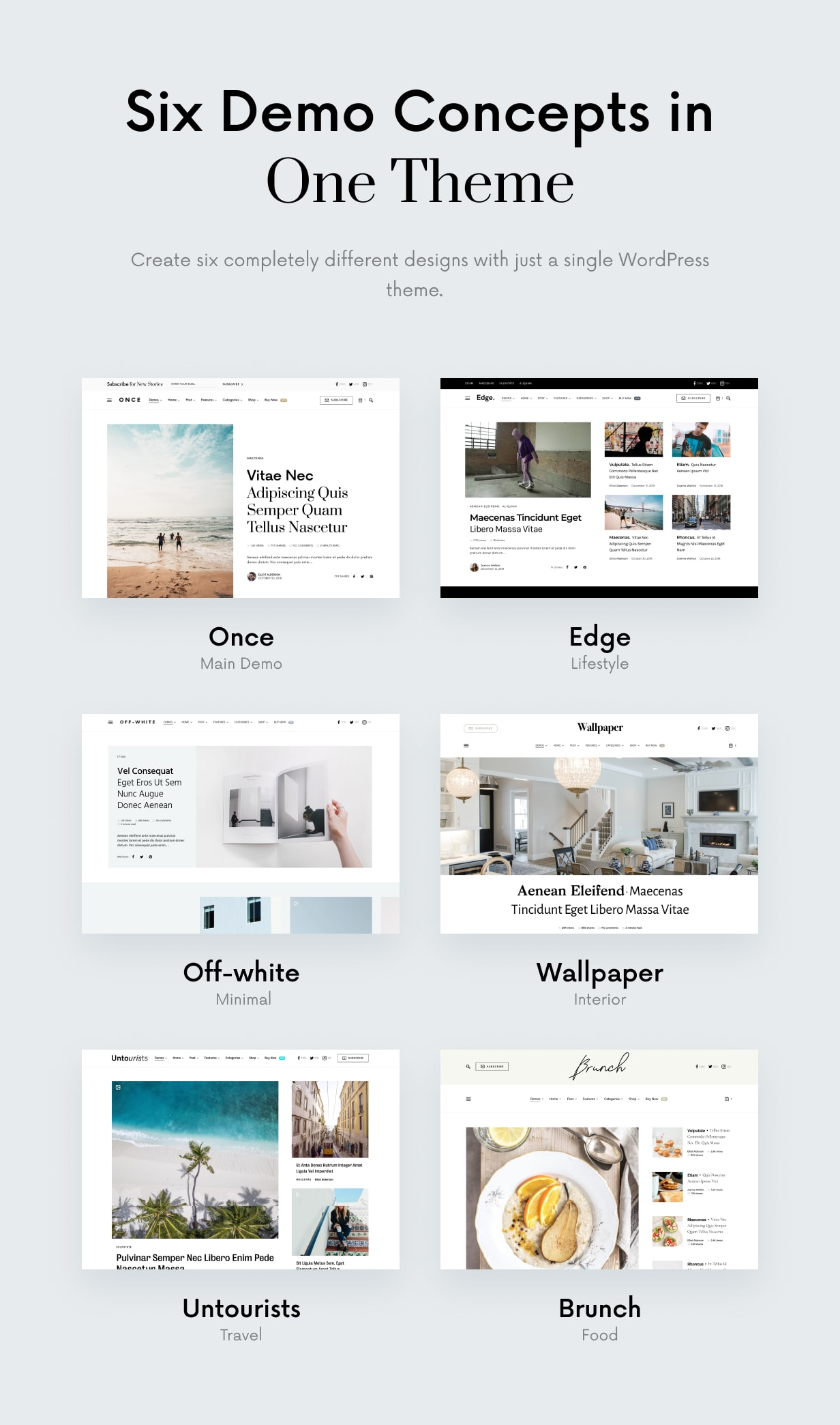 Once: Clean and elegant WordPress blog theme - 2