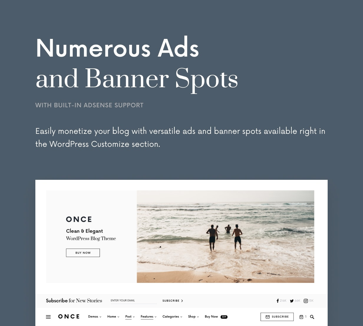 Once - Clean & Elegant WordPress Blog Theme - 29