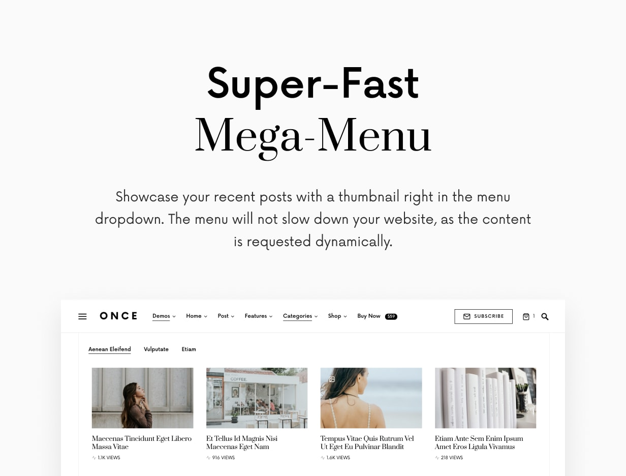 Once upon a time: clean and elegant WordPress blog theme - 14
