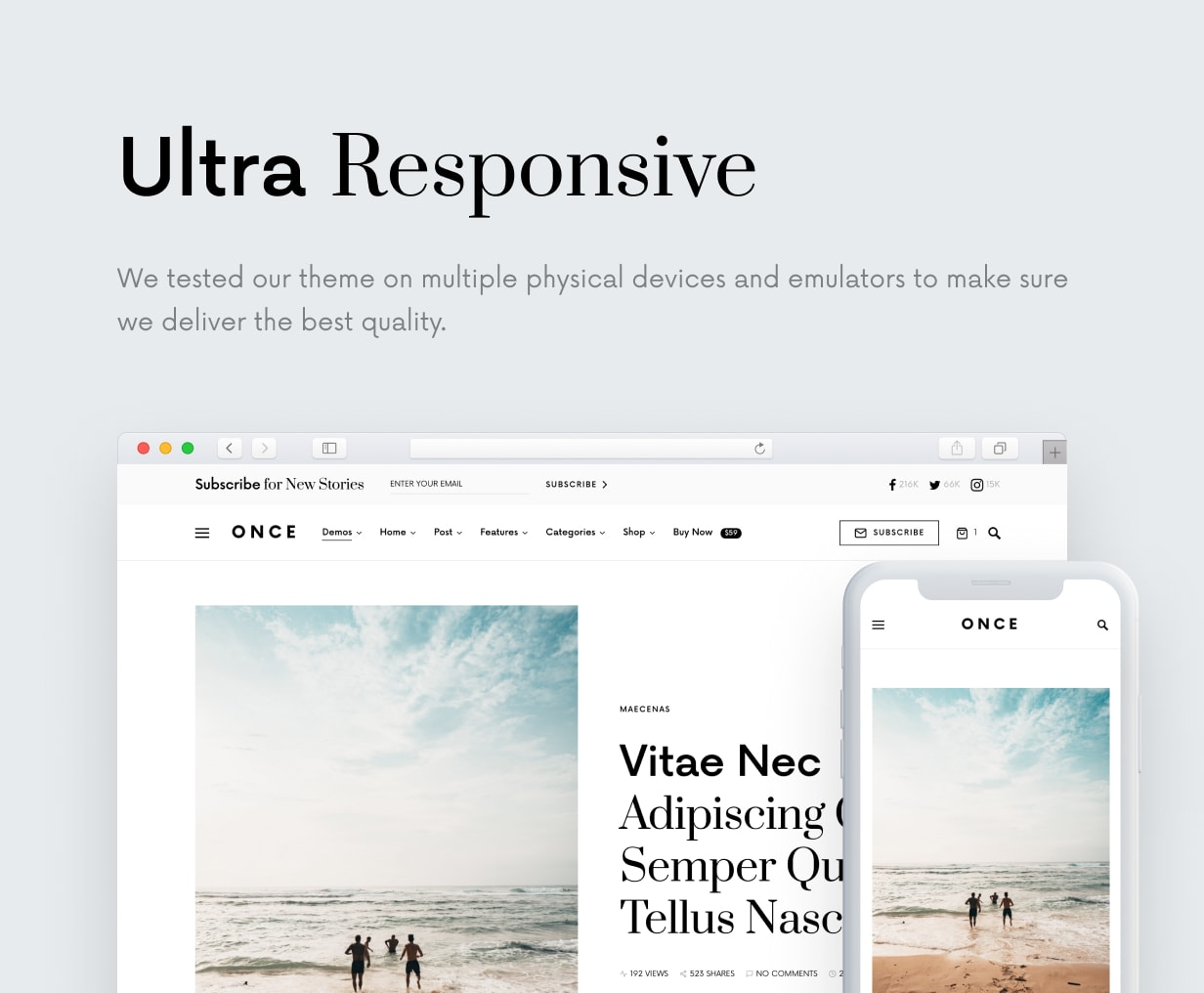 Once: Clean and Stylish WordPress Blog Theme - 44