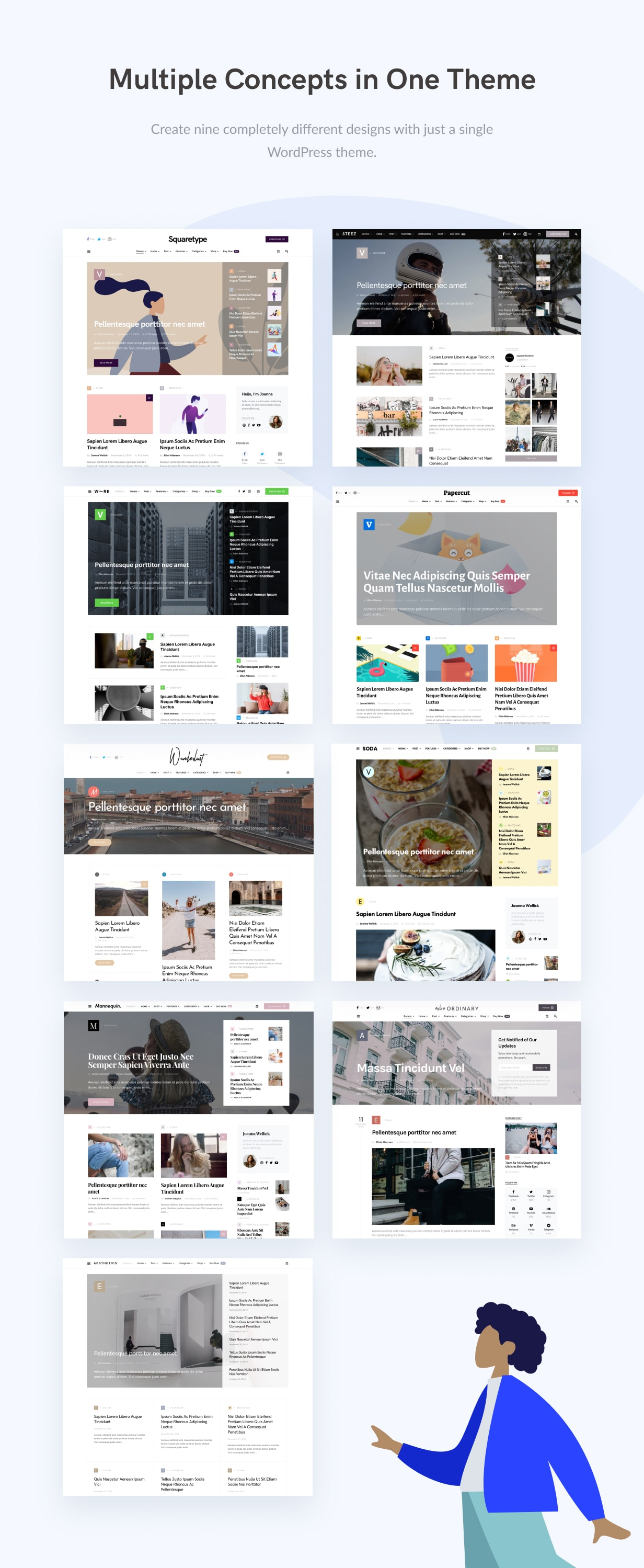 Squaretype - Modern Blog WordPress Theme - 1