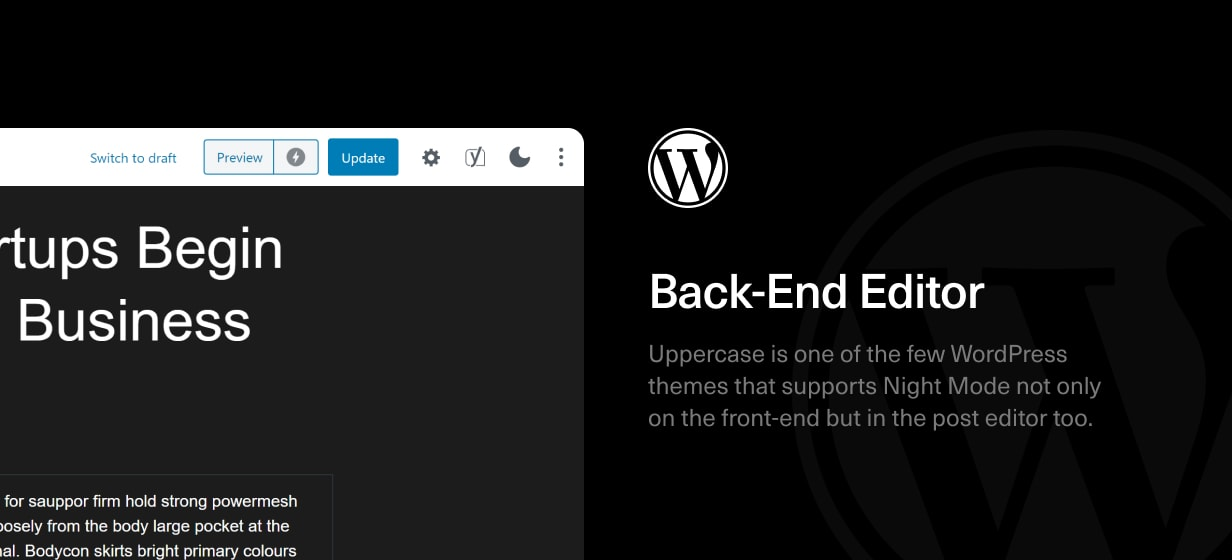 Uppercase - WordPress Blog Theme with Dark Mode - 5
