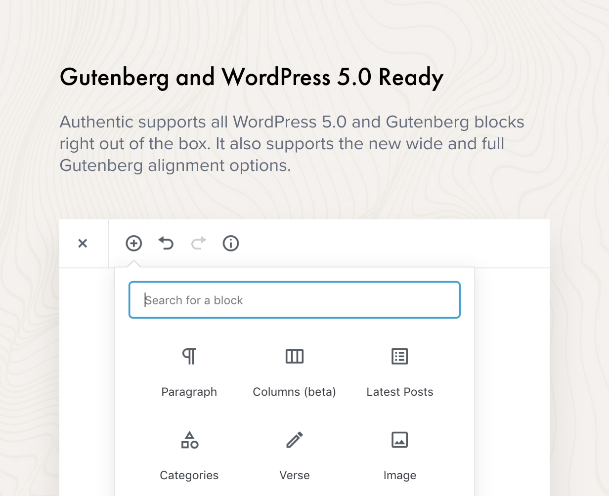 Gutenberg and WordPress 5.0 Ready
