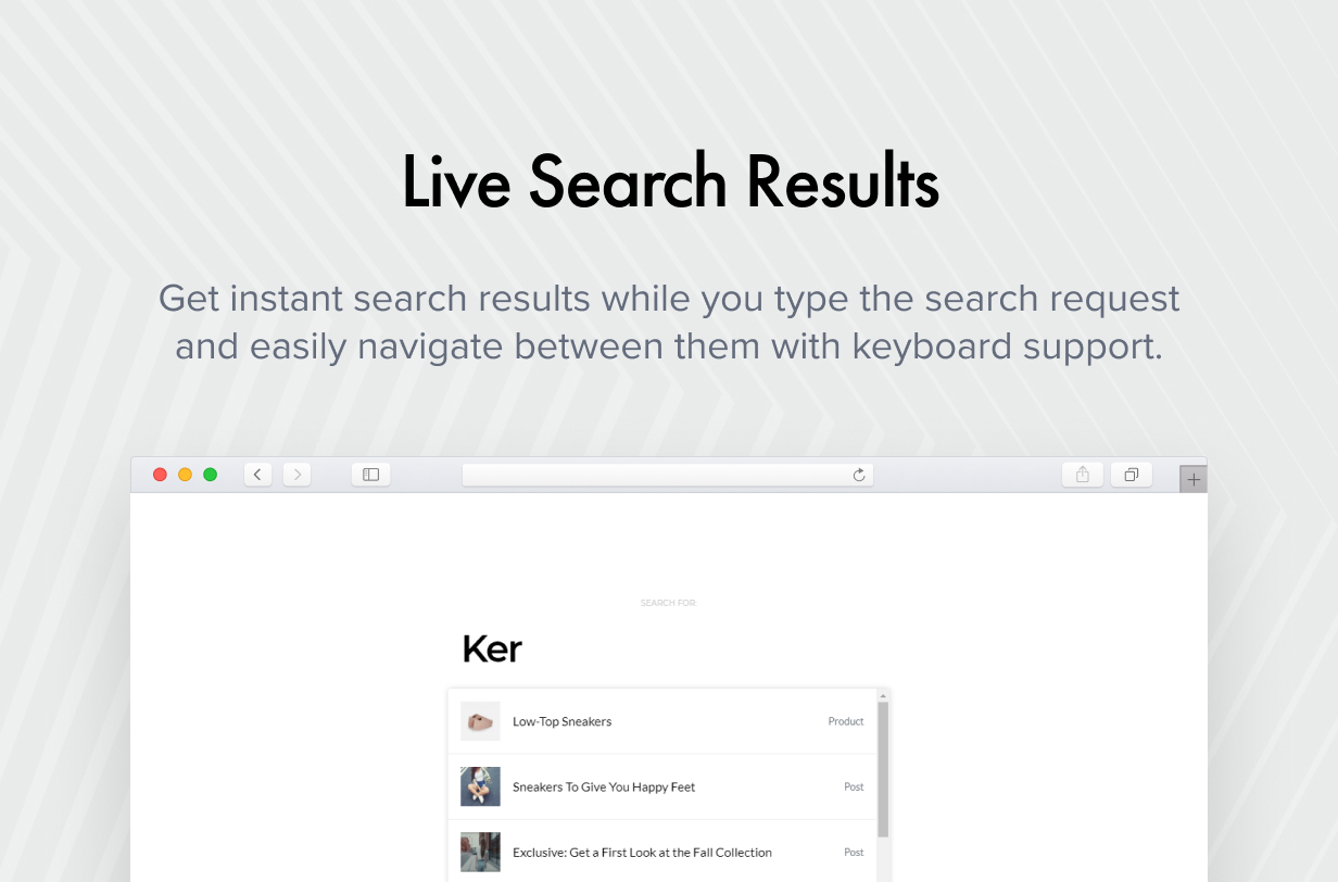 live Search Results