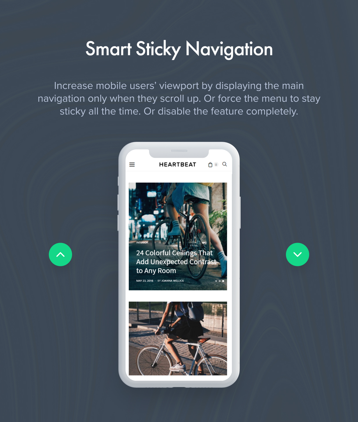 Smart Sticky Navigation
