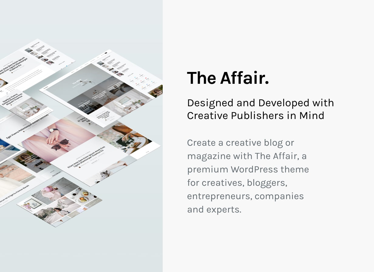 The Affair - Creative Theme for Personal Blogs and Magazines - 2
